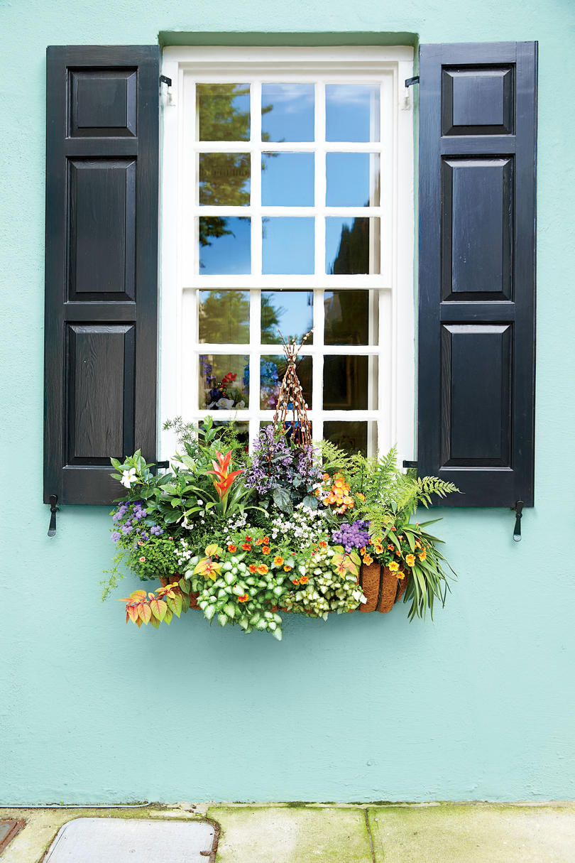 add charm with window boxes - southern