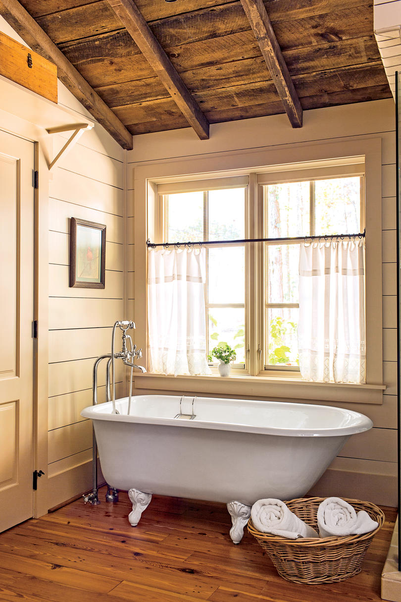 Bathroom with Rustic Shiplap Walls