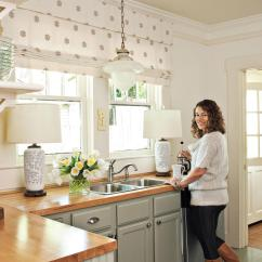 Kitchen Makeovers Unique Curtains Before And After Southern Living Cottage Makeover