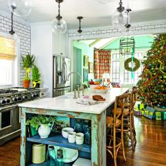 Banquette Bench Kitchen Under Sink Mat Our Favorite Christmas Kitchens - Southern Living
