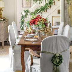 Tall Dining Room Chair Covers Red Barber Christmas In The - Southern Living