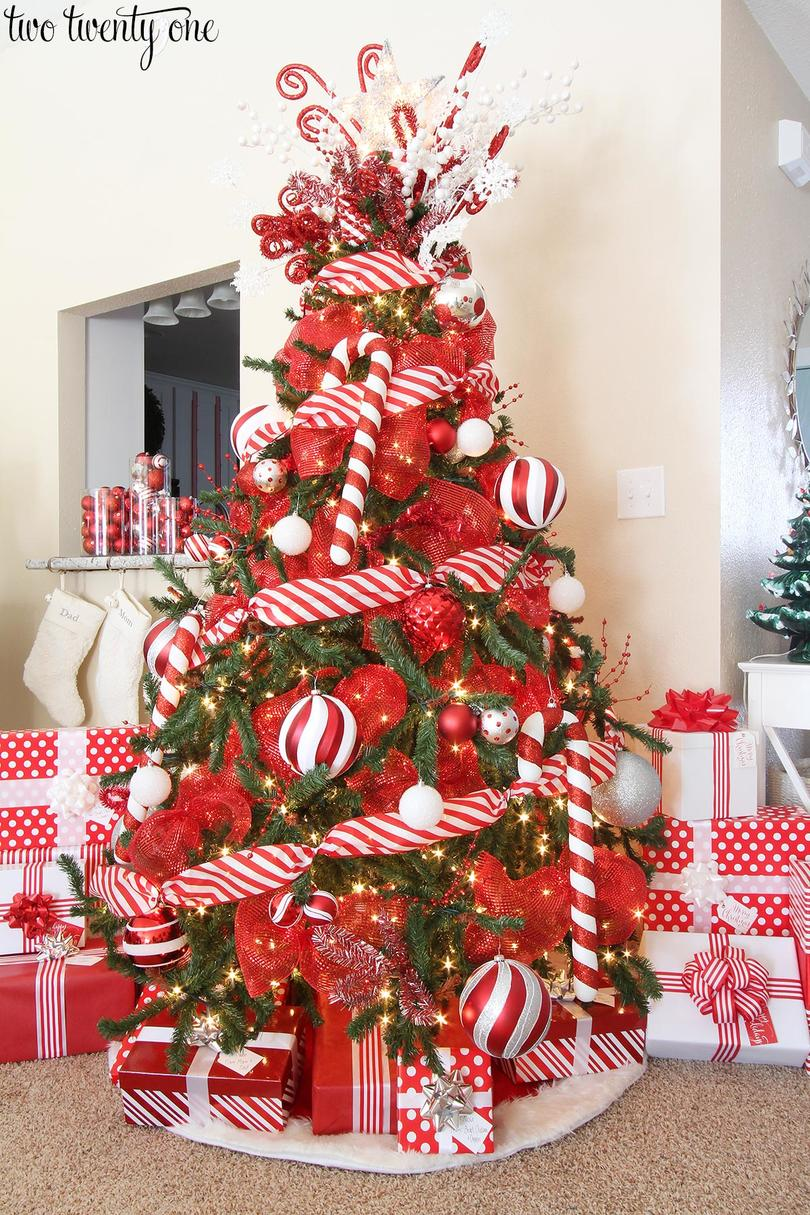 Christmas Tree With Candy Decorations