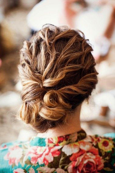 festive updos curly haired