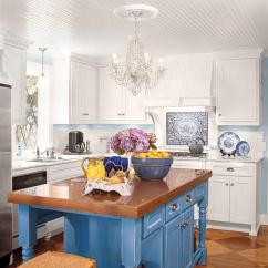 Colored Kitchen Islands Equipment List Stylish Island Ideas Southern Living Contrasting Color