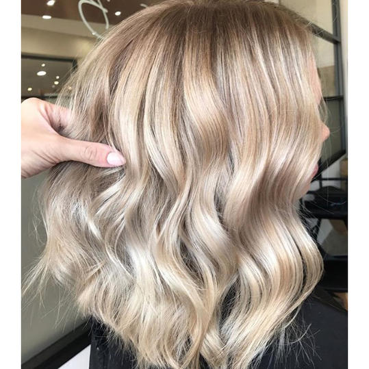 champagne hair color ' dying