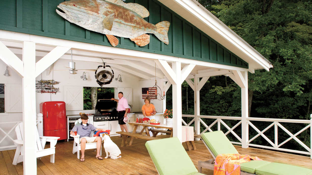 Outdoor Kitchen How One Couple Turned A Run Down Georgia