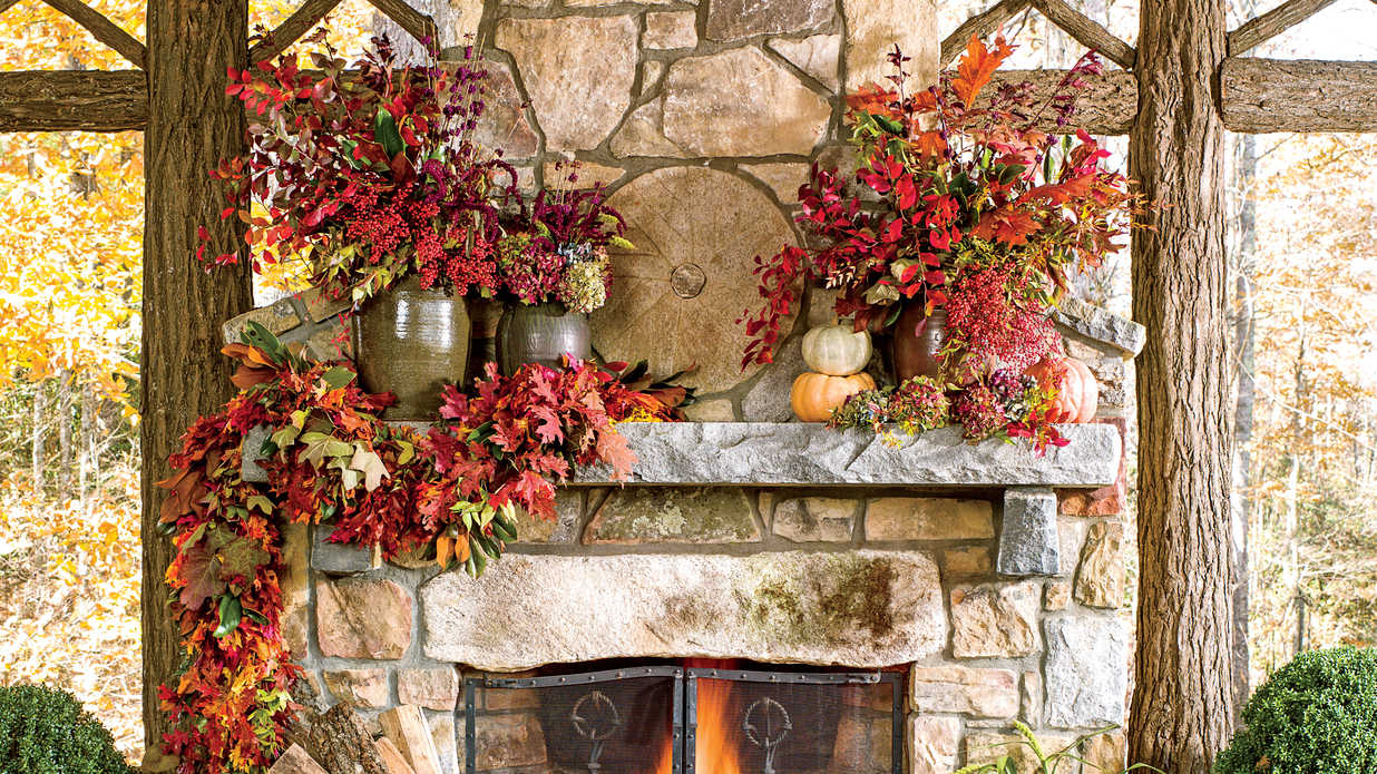Falling Leaves Wallpaper Blackberry Fall Decorating Ideas Southern Living
