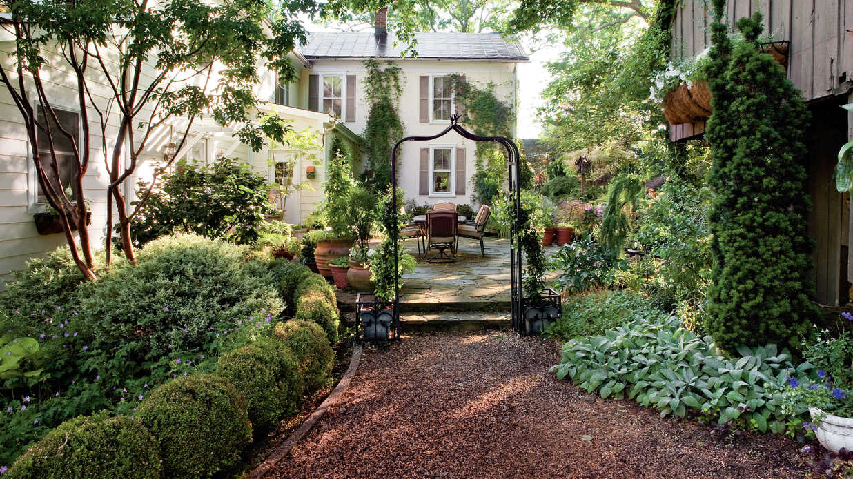 shady garden design ideas - southern