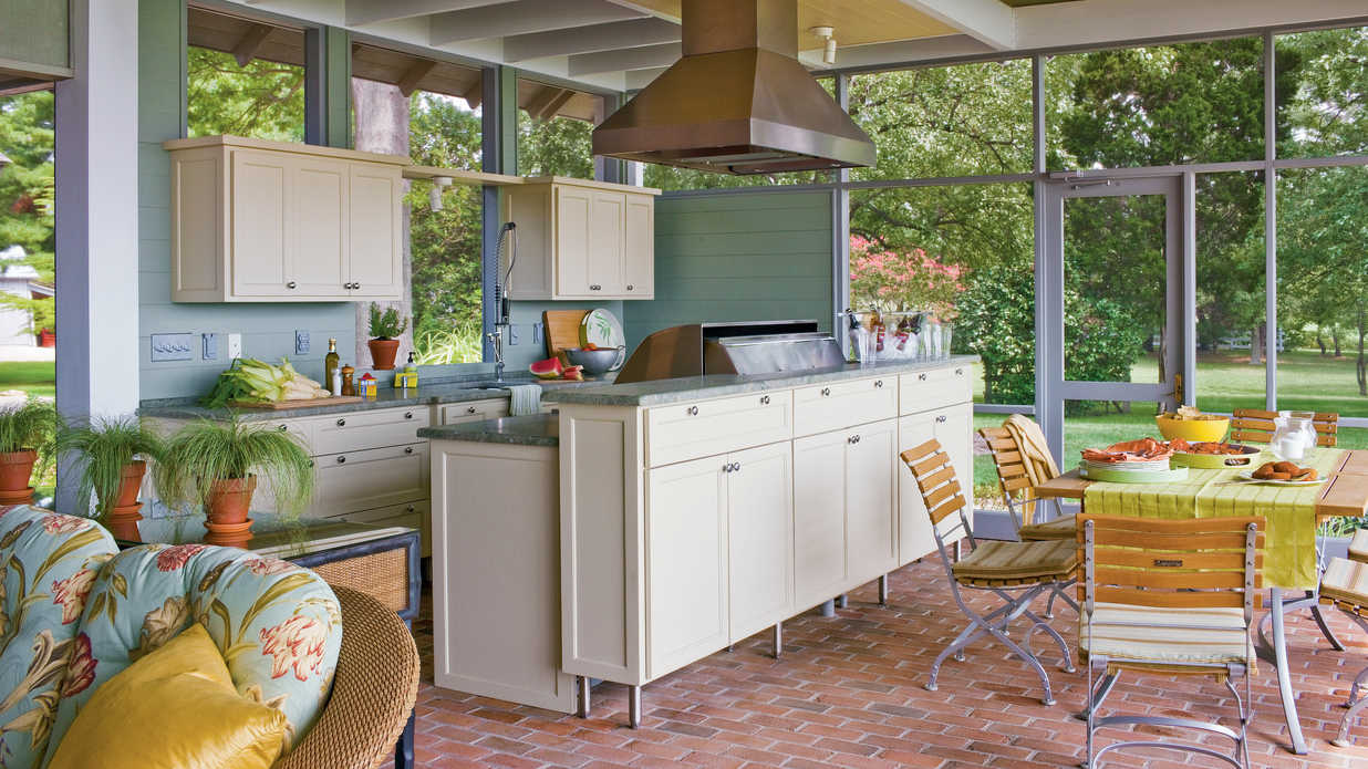 outdoor kitchen hood diy cabinet drawers ultimate design ideas southern living