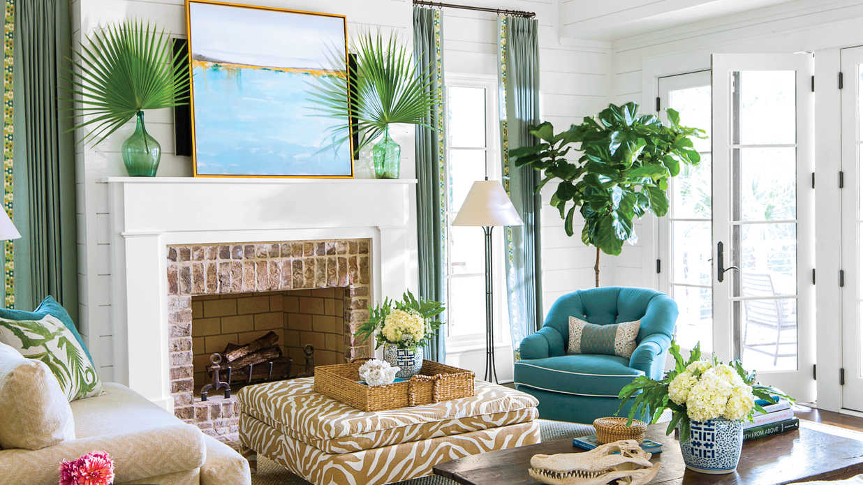 blue living room furniture decorating ideas long narrow dining combo beach southern