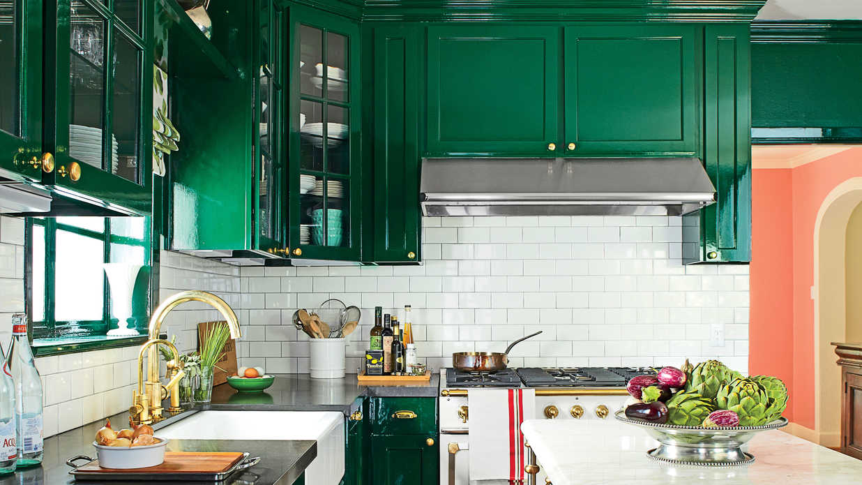 Kitchen Decorating Ideas With Hunter Green Countertops