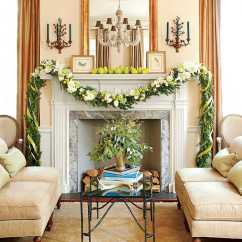 Christmas Decoration Ideas For Small Living Room Modern With Log Burner And Holiday Home Decorating Southern Fireplace Garland