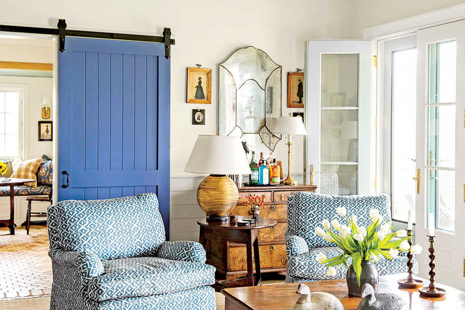 living room decor styles nice wall colors decorating ideas southern with blue barn door