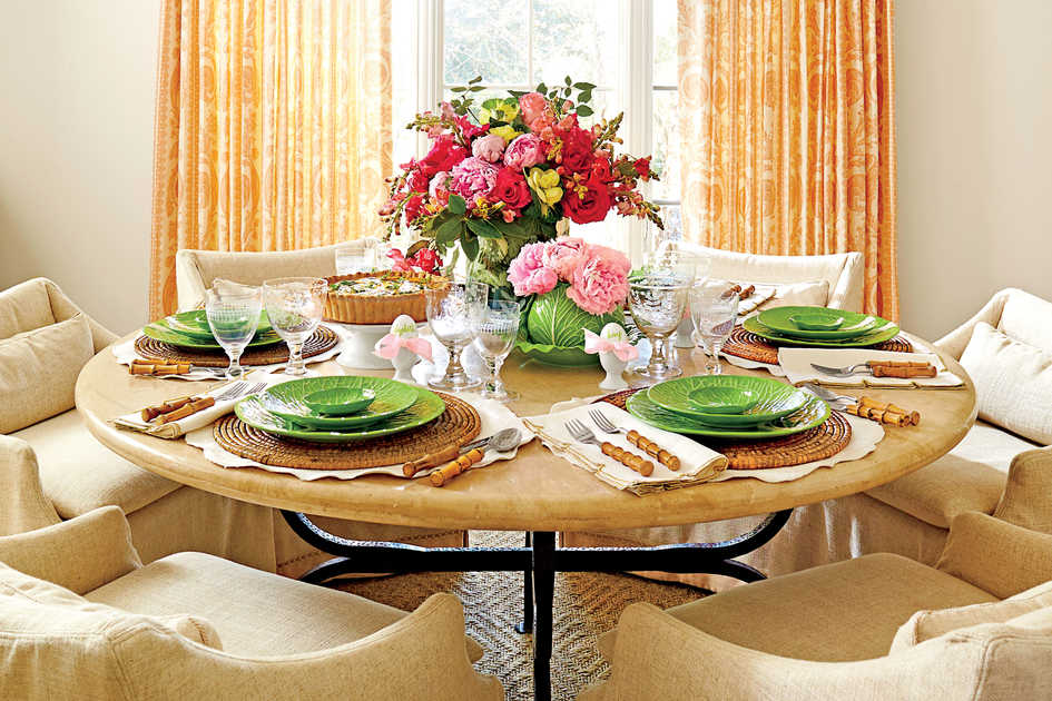 Southern Potluck Dinner Table