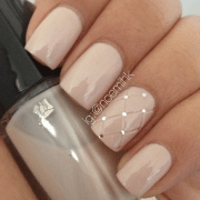 pink wedding nails with fishnet