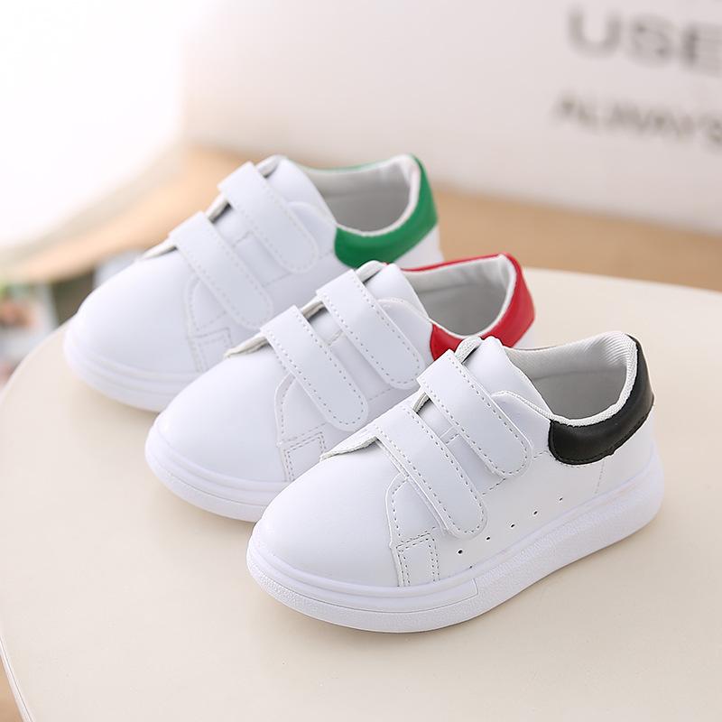 橡膠黑色紅色兒童綠色男童春季PU防滑小白鞋韓版女童_兒童鞋_左山網
