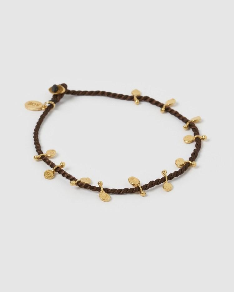 Arms Of Eve Jai Gold Bracelet Brown Jewellery Gold