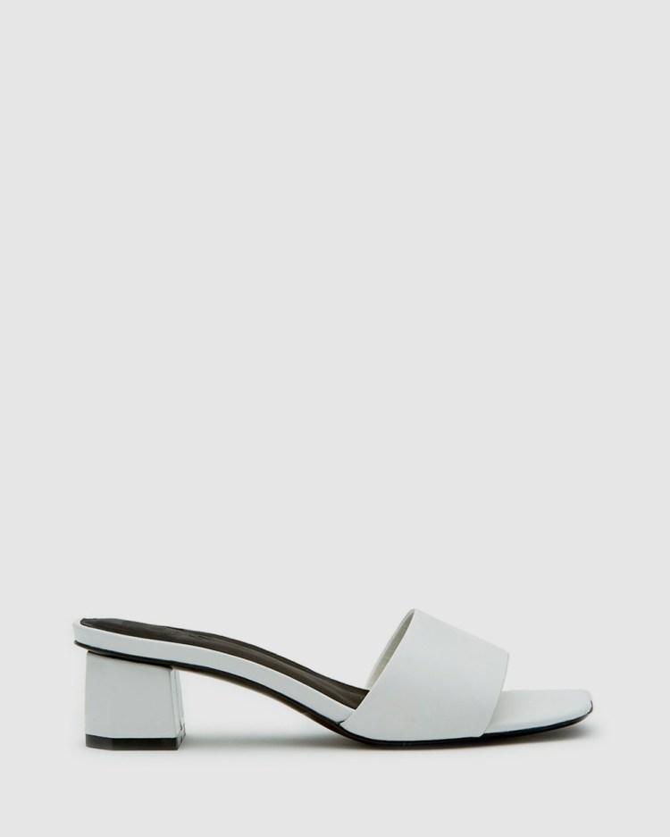 LMS The Lara Mid-low heels White