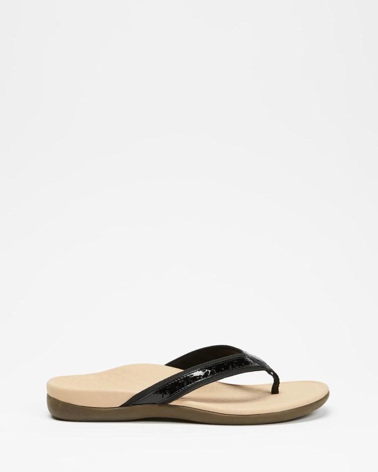 Vionic Casandra Toe Post Sandals All thongs Black
