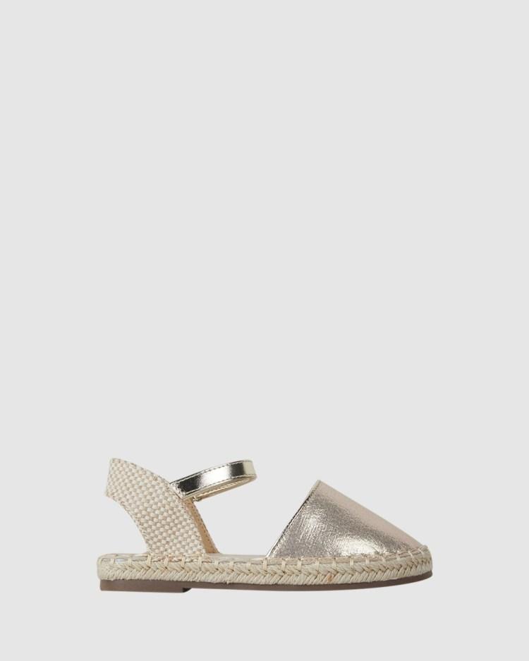Kicks Kayla Espadrille Flats Soft Gold
