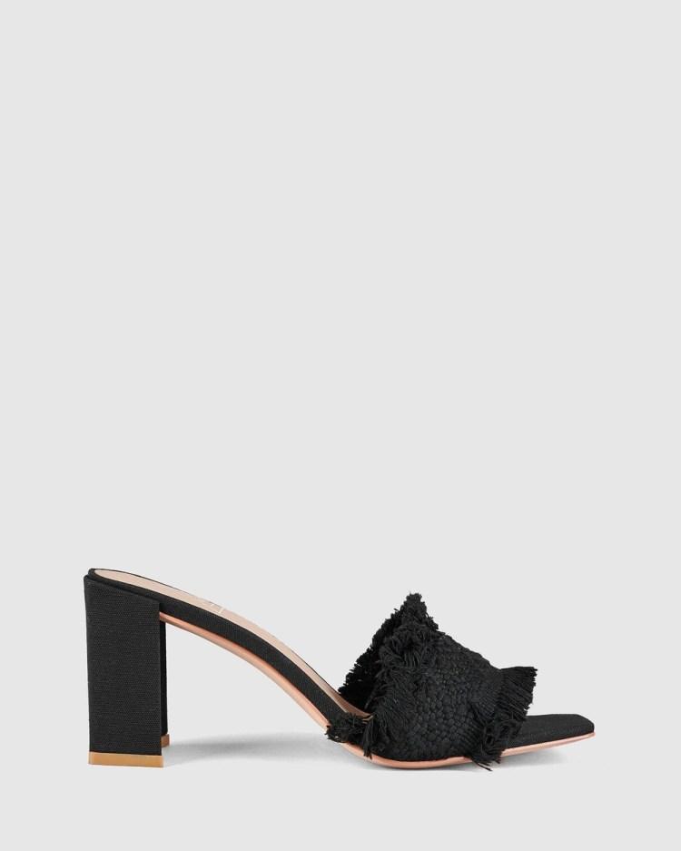St Sana Camilla Mules Heels Black