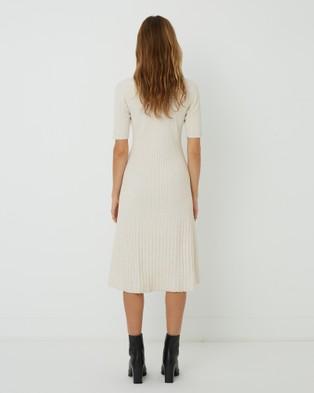 FRIEND of AUDREY - Carolina Buttoned Knit Dress - Jumpers & Cardigans (Speckled Vanilla) Carolina Buttoned Knit Dress