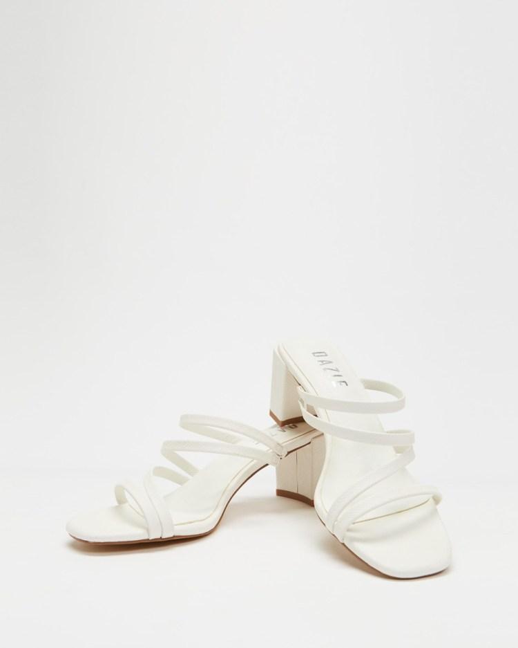 Dazie August Heels Mid-low heels White Lizard