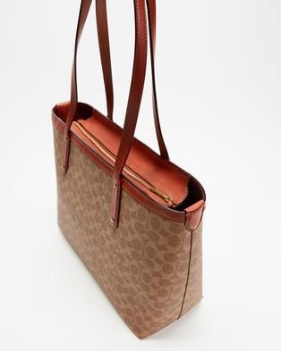 Coach - Central Tote - Handbags (Tan & Rust) Central Tote