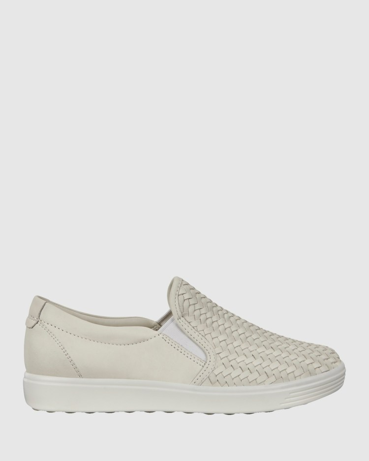 ECCO Soft 7 Womens Sneakers Lifestyle White
