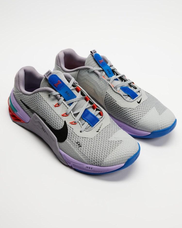 Nike Metcon 7 Men's Training Light Smoke Grey, Black, Violet Haze, Lilac & Team Orange