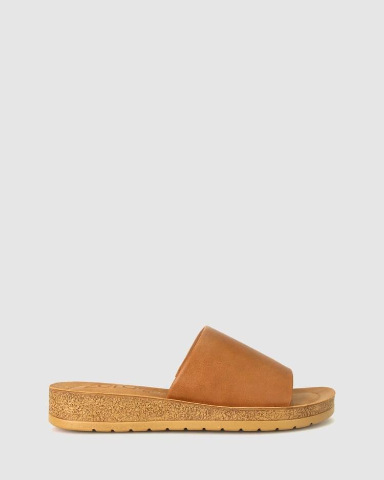 Zeroe Rush Comfort Mule Sandals Tan