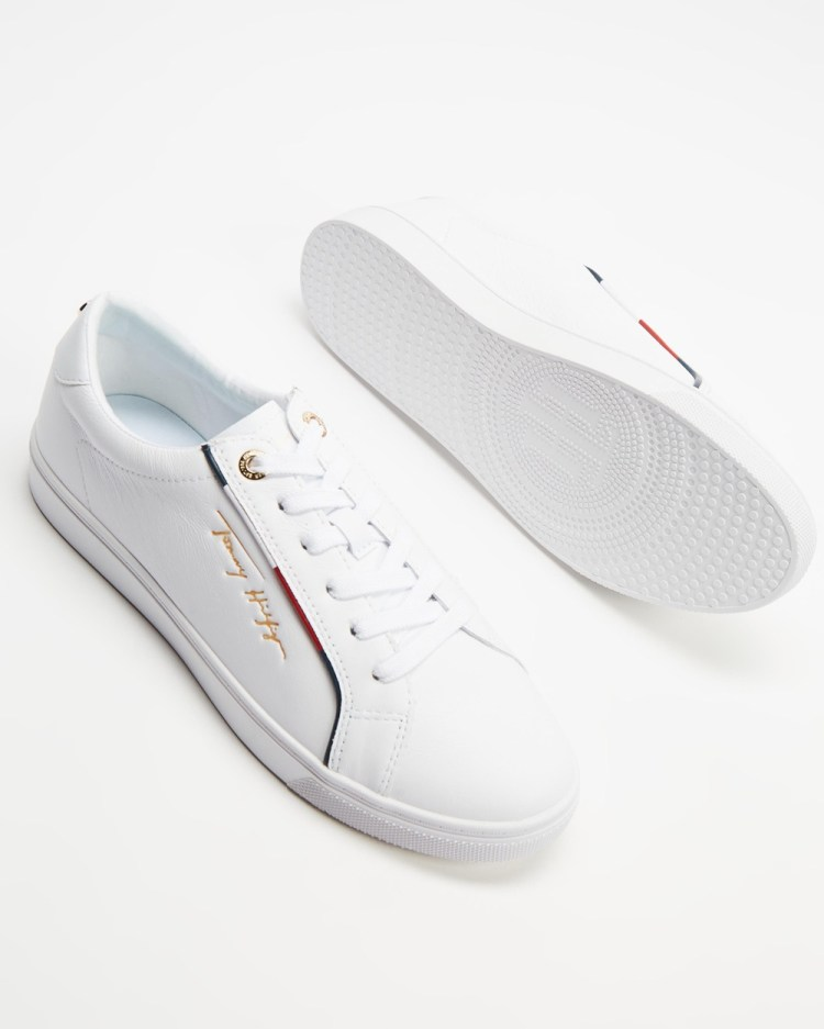 Tommy Hilfiger Signature Sneakers Womens White