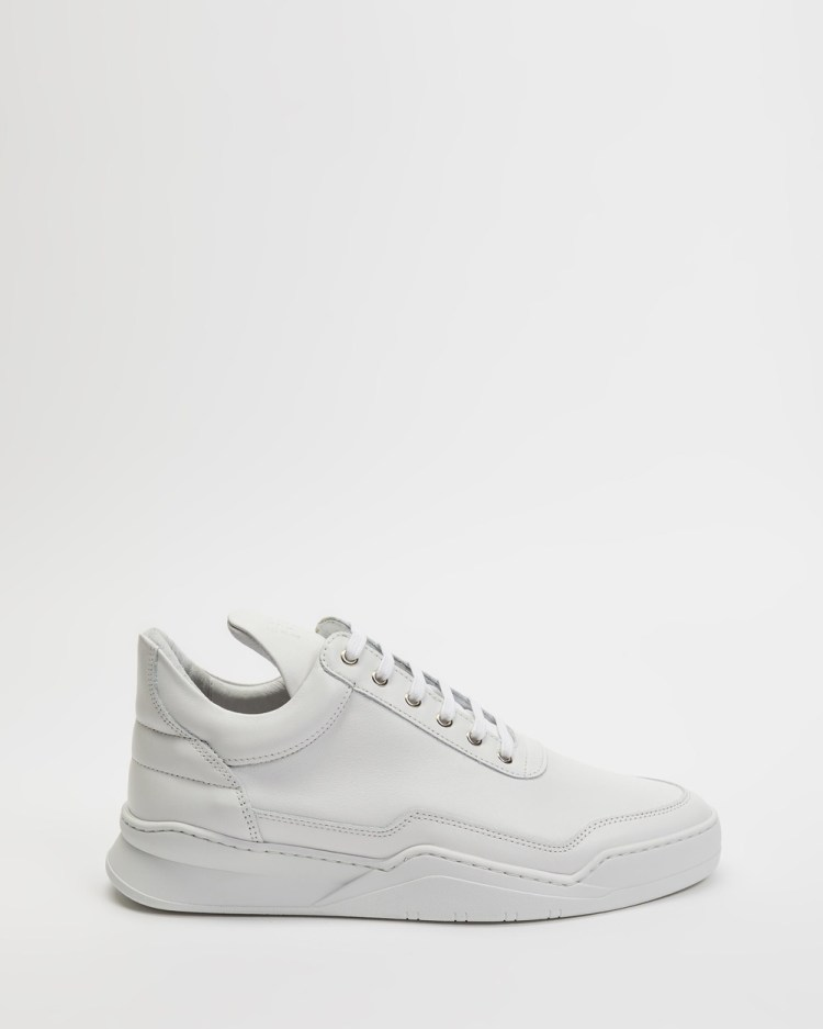 Filling Pieces Low Top Ghost Sneakers Unisex White
