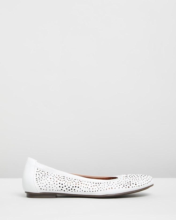 Vionic Robyn Flats Ballet White