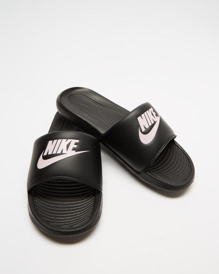 Nike Victori One Slides Women's Black & Arctic Pink
