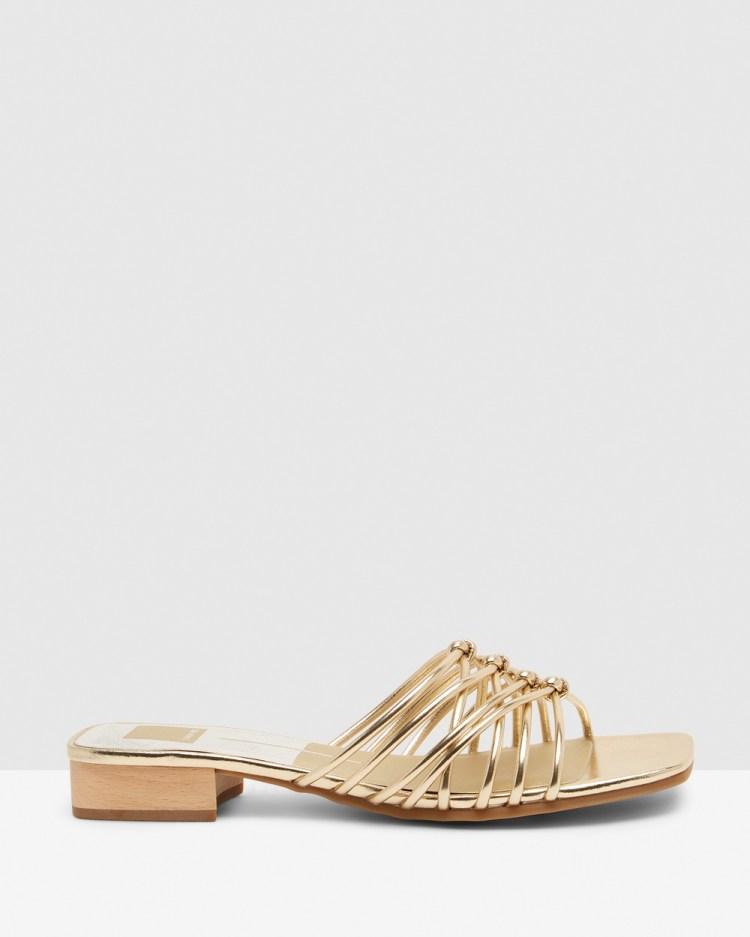 Dolce Vita Riley Gold Sandals Gold