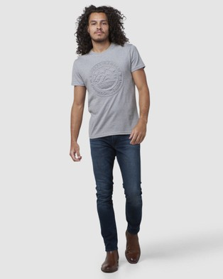 Superdry Everest Tee T-Shirts Peppered Grey Grit