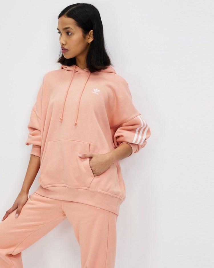 adidas Originals Adicolor Classics Oversize Hoodie Hoodies Ambient Blush