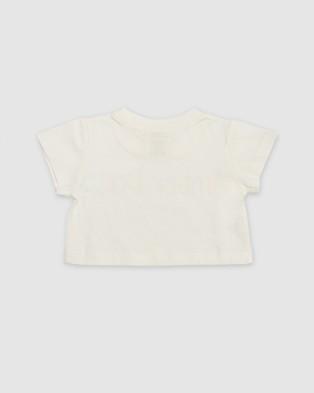 Amber Days Wirirri Crop Tee Short Sleeve T-Shirts White