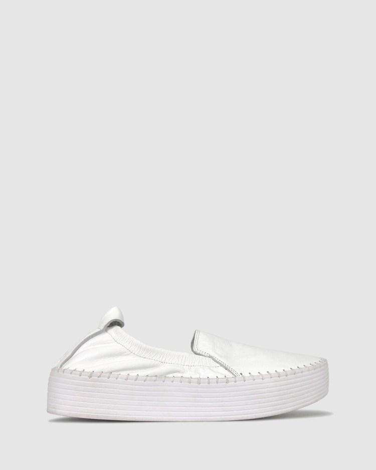 Airflex Sandra Flatform Loafers Casual Shoes White