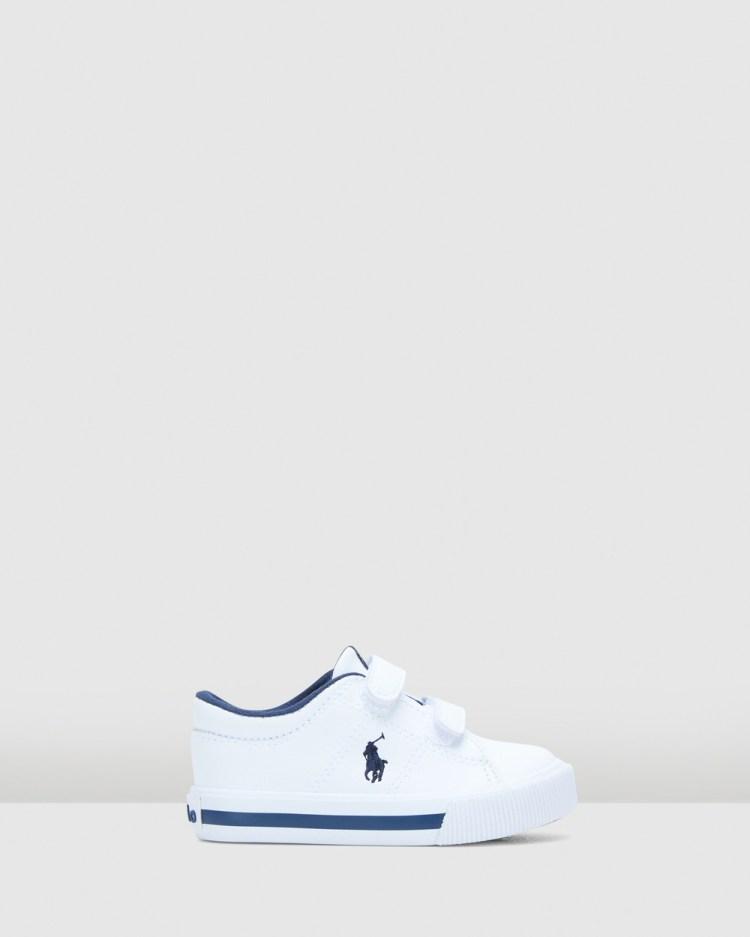 Polo Ralph Lauren Elmwood Ez Tumbled Infant Sneakers White/Navy