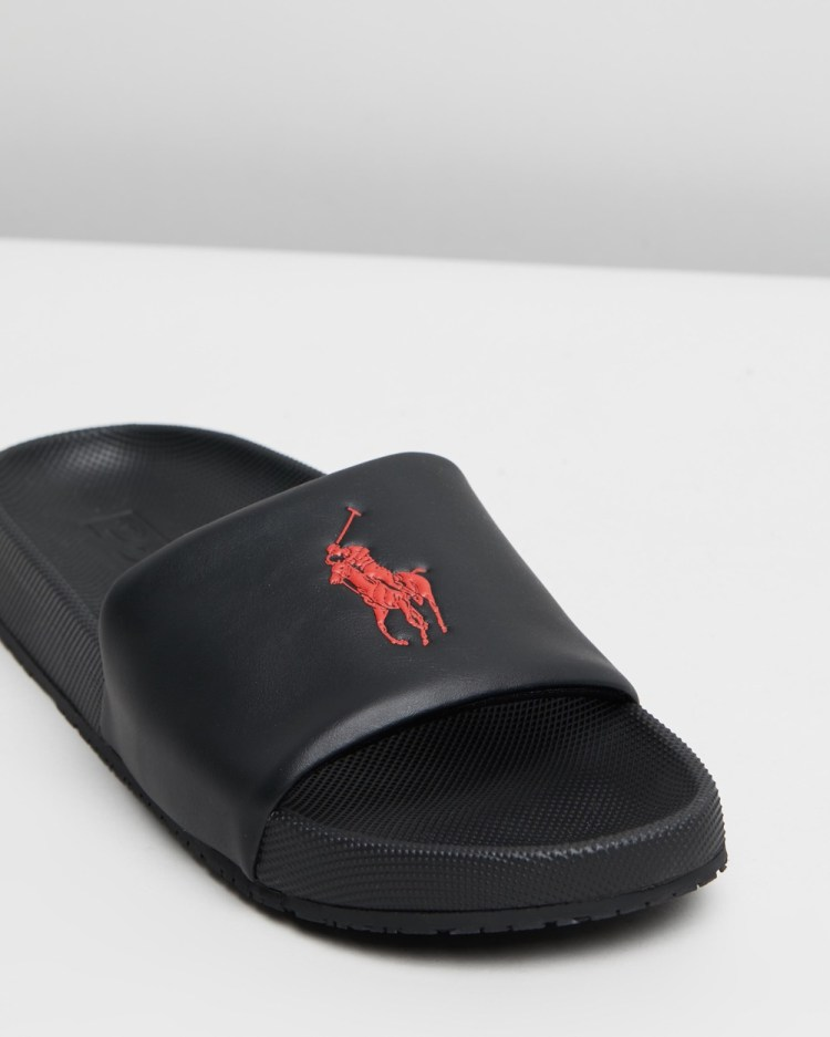 Polo Ralph Lauren Cayson Casual Shoes Black & Red
