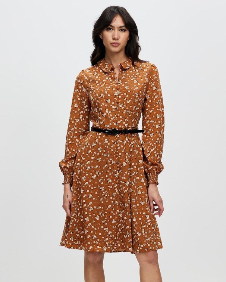 Review Primrose Meadow Dress Printed Dresses Toffee & Cream