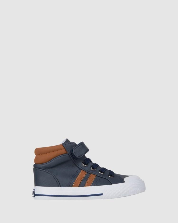 CIAO Merrick Hi Top Sneakers Navy/Tan