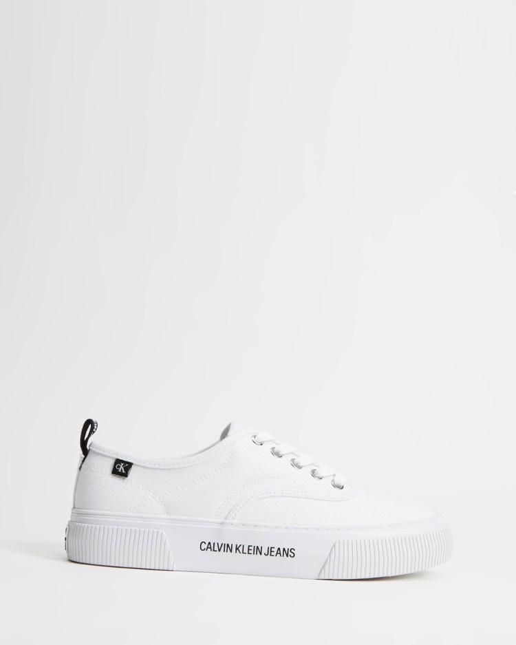 Calvin Klein Jeans Vulcanised Skate Oxford Co Women's Sneakers Bright White