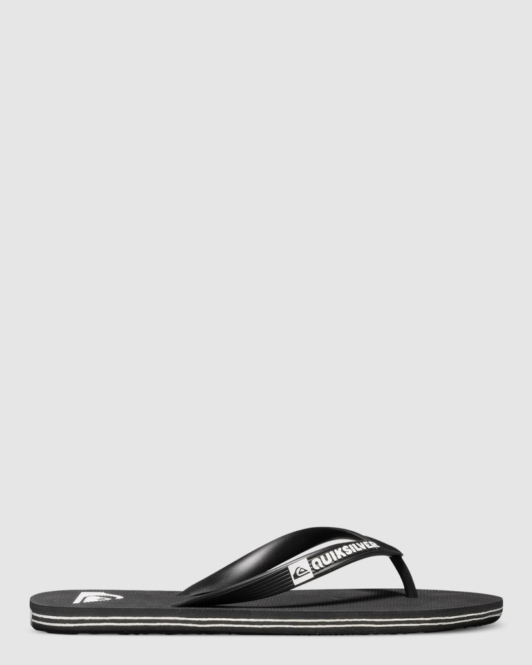 Quiksilver Mens Molokai Flip Flops Thongs Black/Black/White