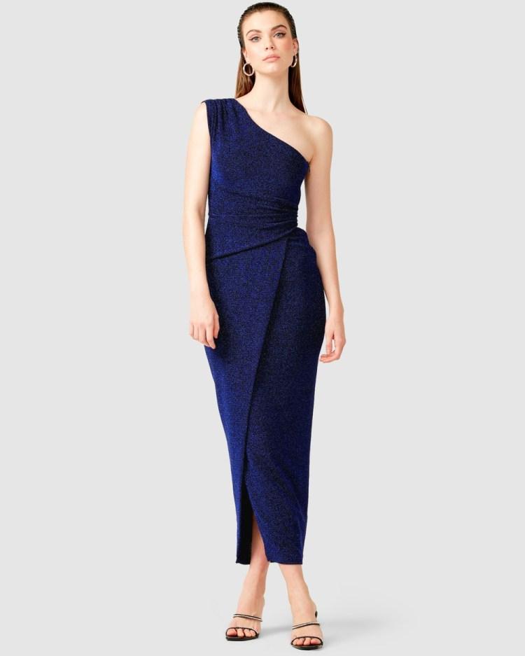SACHA DRAKE Valedictory Maxi Dress Bridesmaid Dresses Sapphire