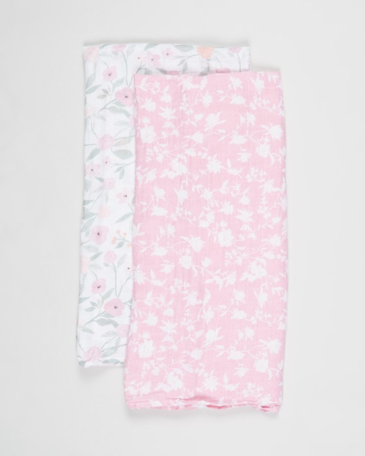 Aden & Anais 2 Pack Large Swaddles Babies Wraps Blankets Ma Fleur 2-Pack