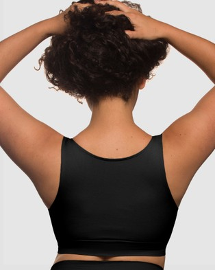 B Free Intimate Apparel - High Back Pull On Crop Top - Crop Tops (Black) High Back Pull On Crop Top