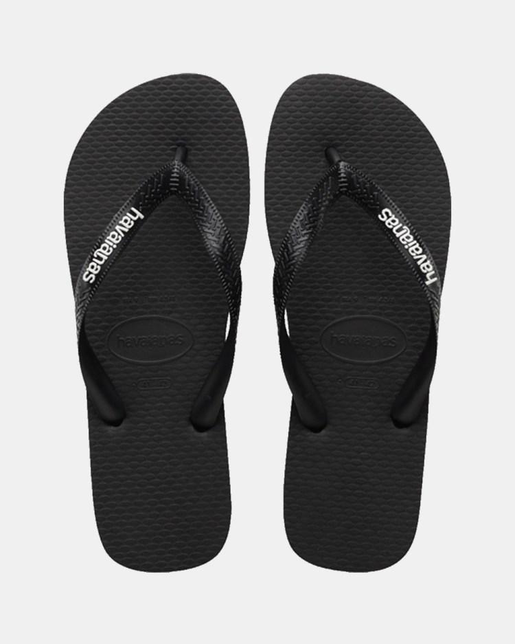 Havaianas Rubber Logo Unisex All thongs Black & Glacial White